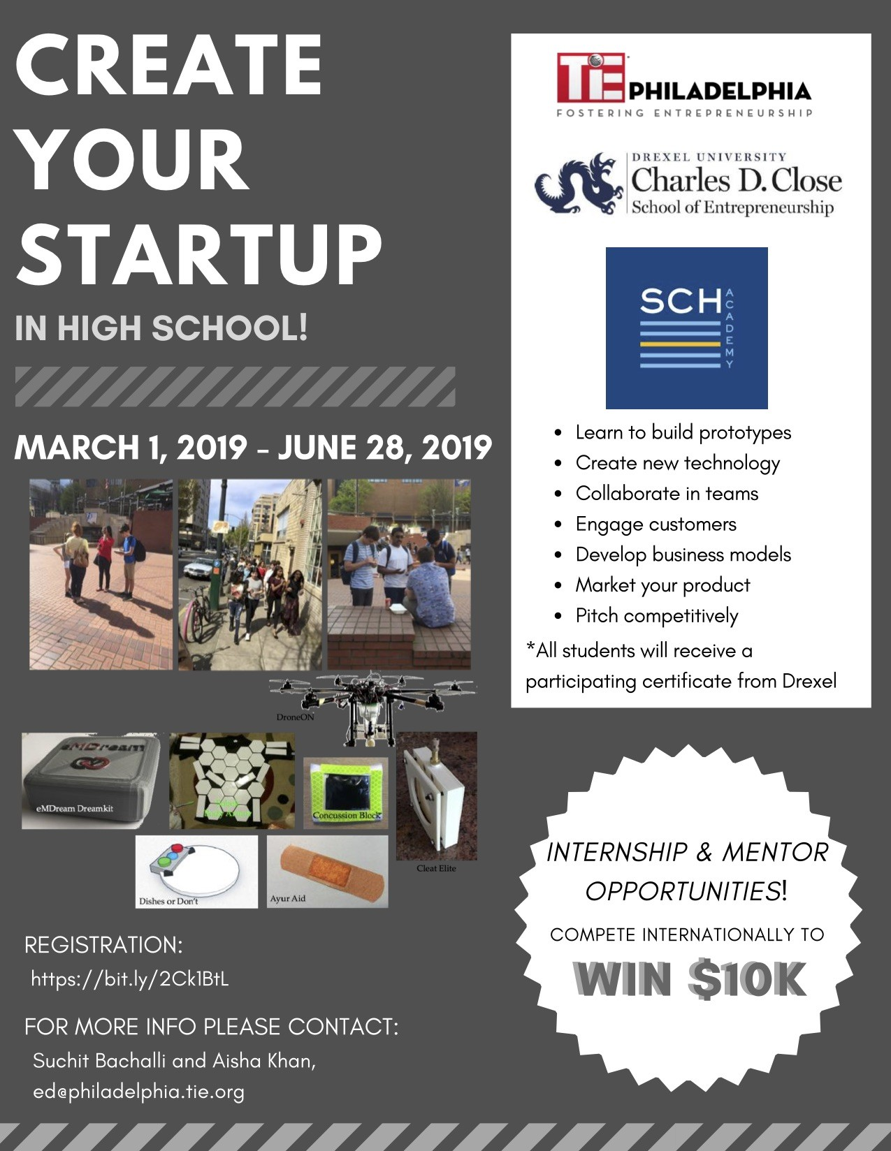 TYE 2019 min - CREATE  YOUR  STARTUP IN HIGH SCHOOL!