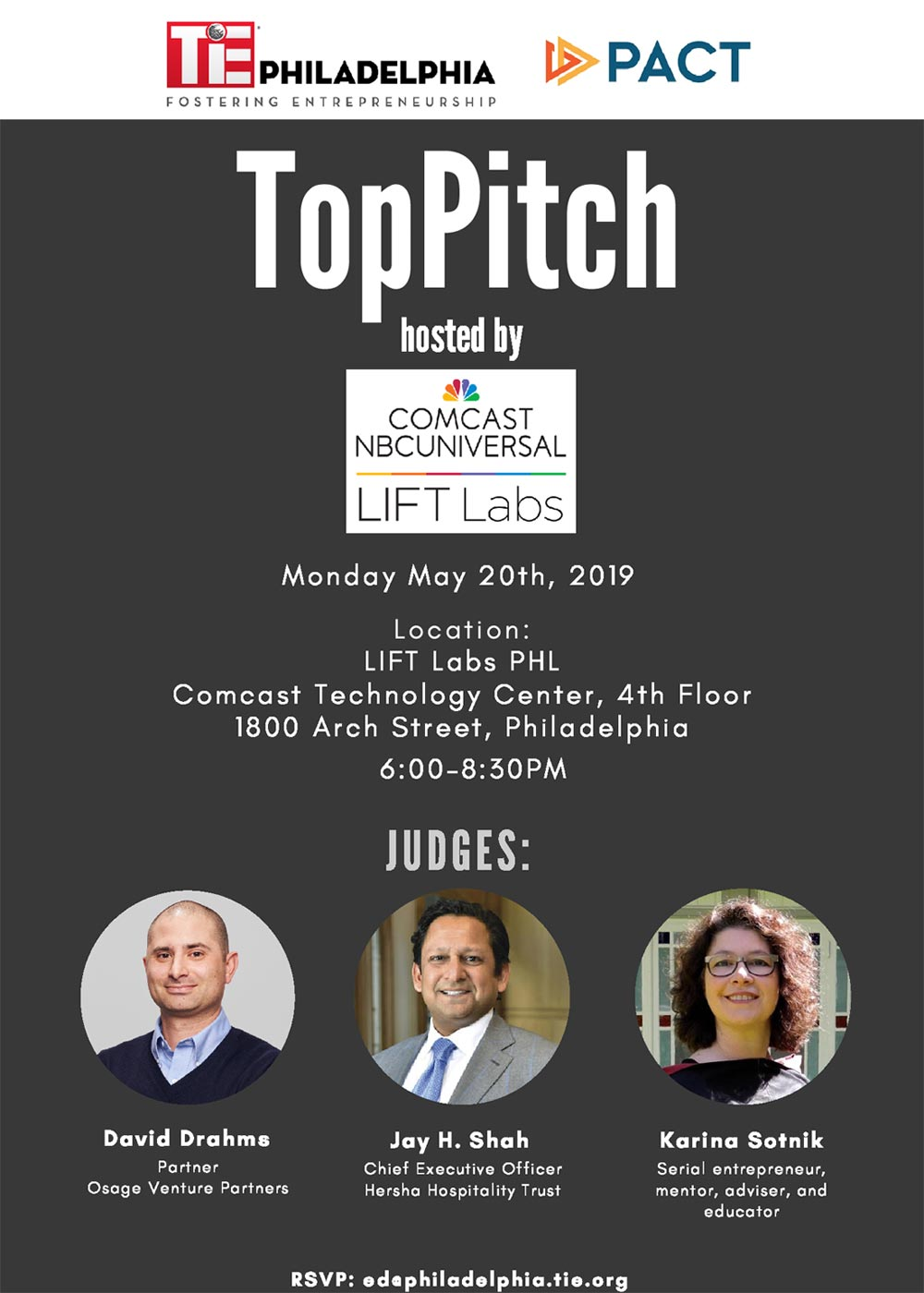 TiE TopPitch May2019 flier - Top Pitch - May 2019