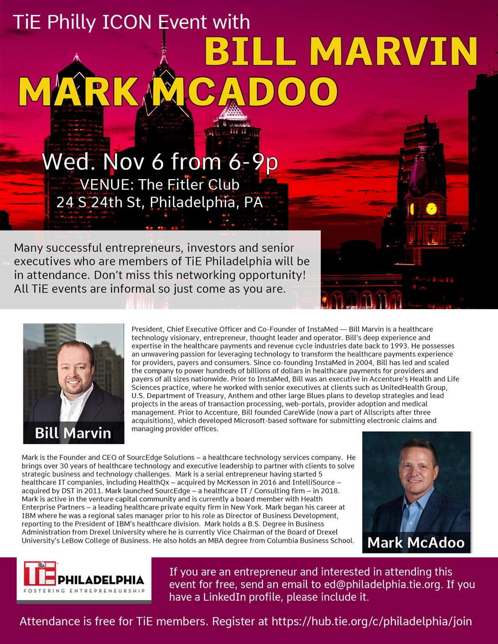 TIE flier web 1 - Icon Event with Bill Marvin & Mark McAdoo